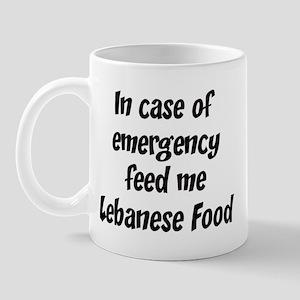 Feed me Lebanese Food Mug