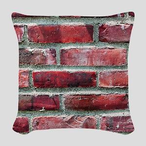 Brick Wall 2 Woven Throw Pillow