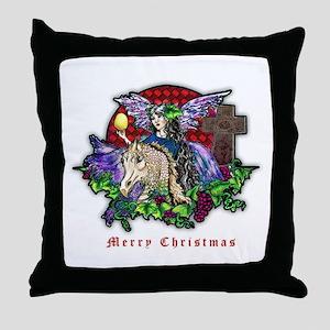 Christmas Fantasy Art Throw Pillow