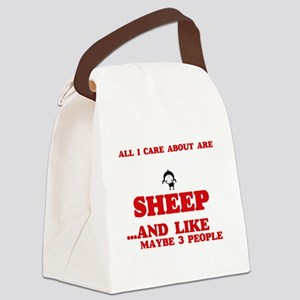 All I care about are Sheep Canvas Lunch Bag