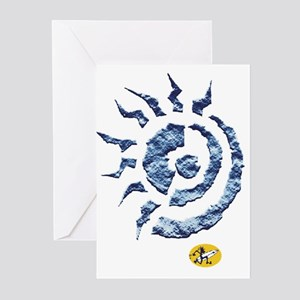 abstract sun Greeting Cards (Pk of 10)