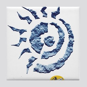 abstract sun Tile Coaster