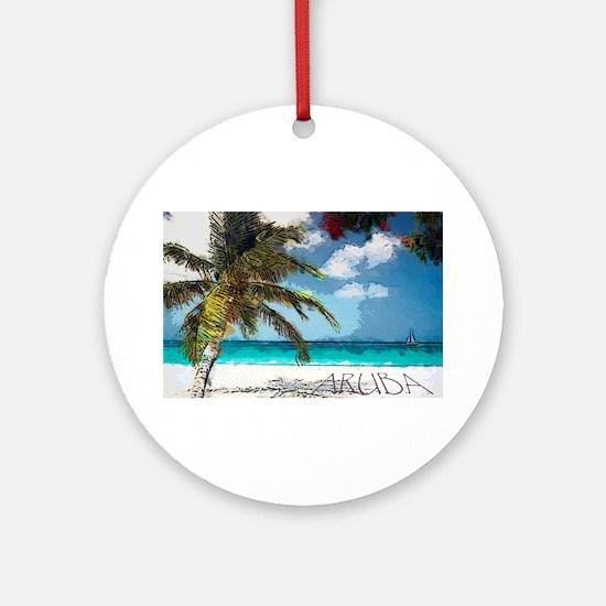 Aruba6.Png Ornament (Round)