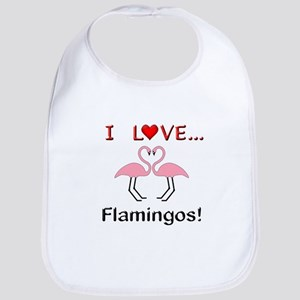 I Love Flamingos Bib