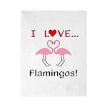 I Love Flamingos Twin Duvet