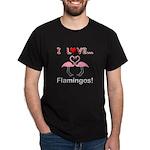 I Love Flamingos Dark T-Shirt