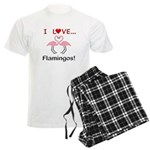 I Love Flamingos Men's Light Pajamas