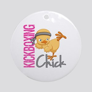 Kickboxing Chick 2 Ornament (Round)