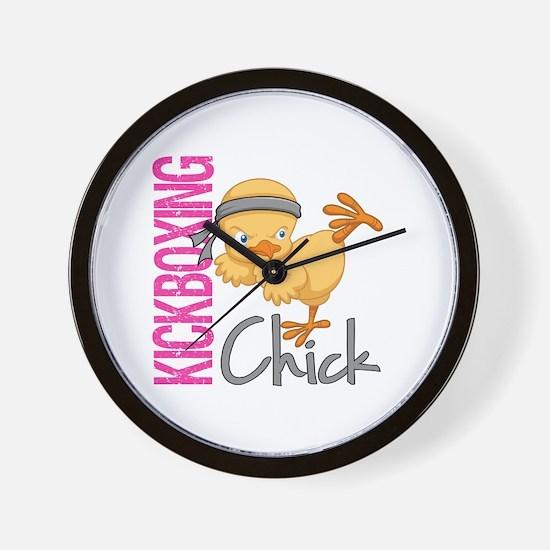 Kickboxing Chick 2 Wall Clock