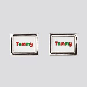Tommy Christmas Red and Green Cufflinks
