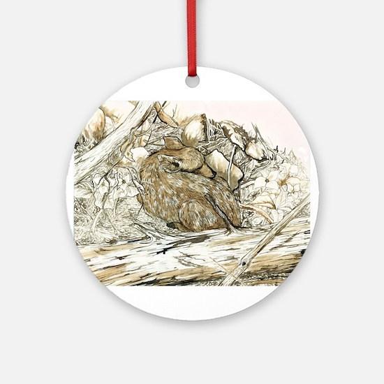 Woodland Fawn Art Ornament (Round)