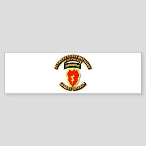 Army - 25th ID w Cbt Vet - Afghan Sticker (Bumper)