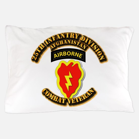 Army - 25th ID w Cbt Vet - Afghan Pillow Case