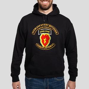 Army - 25th ID w Cbt Vet - Afghan Hoodie (dark)