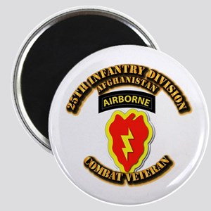Army - 25th ID w Cbt Vet - Afghan Magnet