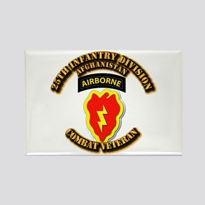 Army - 25th ID w Cbt Vet - Afghan Rectangle Magnet