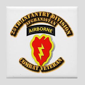 Army - 25th ID w Cbt Vet - Afghan Tile Coaster