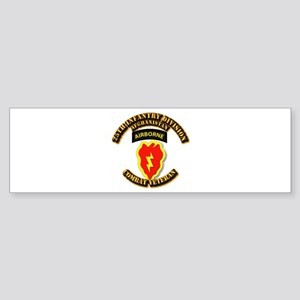 Army - 25th ID w Cbt Vet - Afghan Sticker (Bumper)