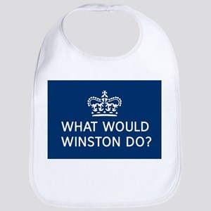 what would winston do Baby Bib
