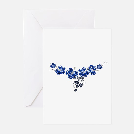 blue hibiscus Greeting Cards (Pk of 10)