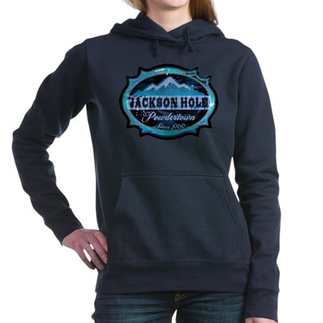 Jackson Hole Powdertown Ice.png Hooded Sweatshirt