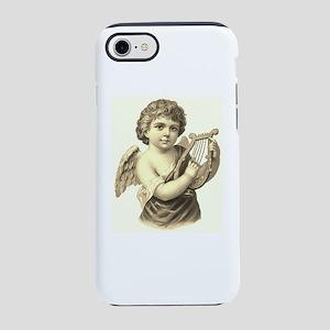 Vintage Harp Angel Sepia iPhone 7 Tough Case