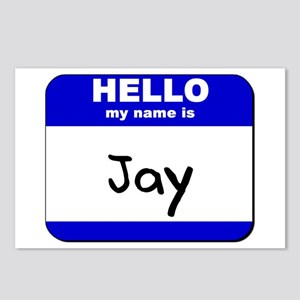hello my name is jay  Postcards (Package of 8)