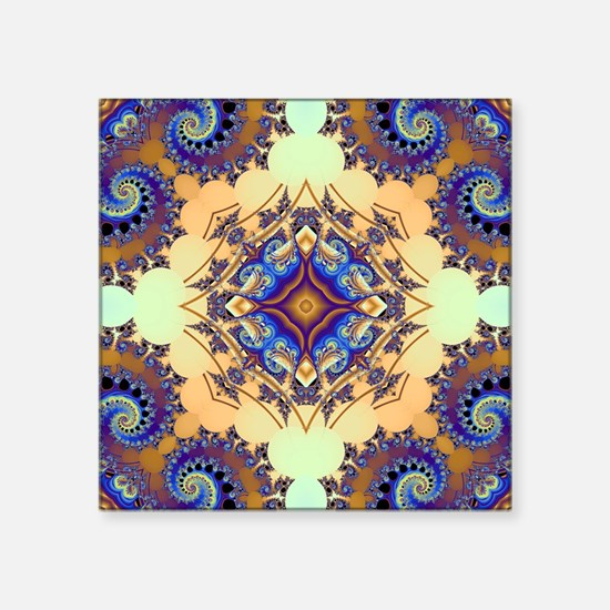 "Tsunami Pattern Square Sticker 3"" x 3"""