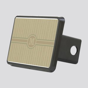 Fashionable monogrammed stripe pattern Hitch Cover