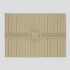 Fashionable monogrammed stripe pattern 5'x7'Area R