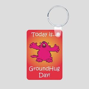 GroundHug Day Aluminum Photo Keychain