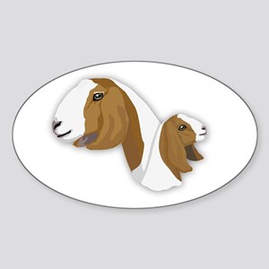 Boer Goat Sticker (Oval)