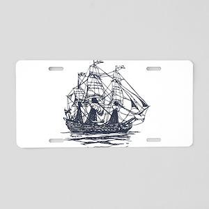 Nautical Ship Aluminum License Plate