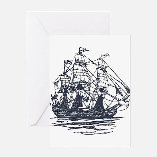 Nautical Ship Greeting Card