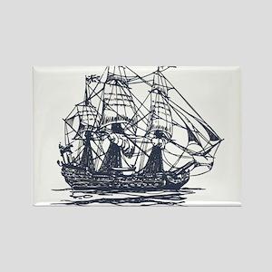 Nautical Ship Rectangle Magnet