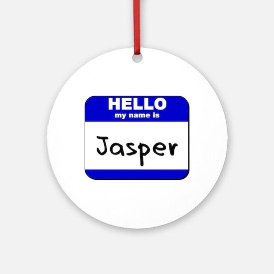 hello my name is jasper  Ornament (Round)
