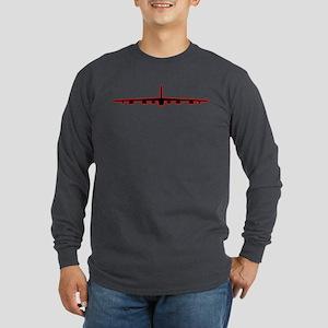 B-52 Black Red Long Sleeve T-Shirt