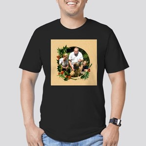 Personalizable Holly Wreath Frame Men's Fitted T-S