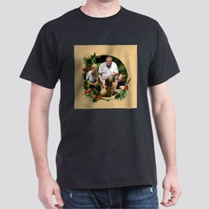 Personalizable Holly Wreath Frame Dark T-Shirt