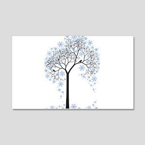 Winter tree with birds Wandtattoo