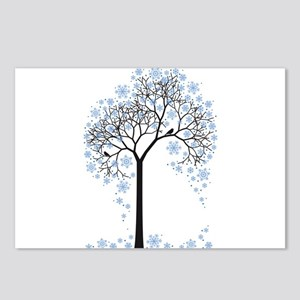 Winter tree with birds Postcards (Package of 8)
