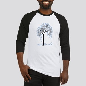 Winter tree with birds Baseball Jersey