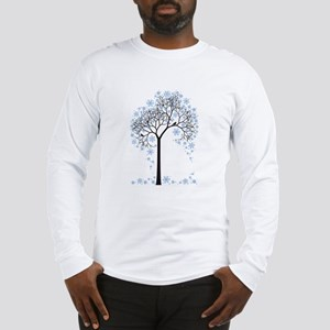 Winter tree with birds Long Sleeve T-Shirt