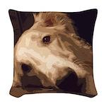Borzoi Melancholy Woven Throw Pillow