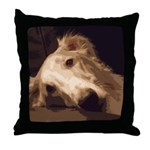 Borzoi Melancholy Throw Pillow