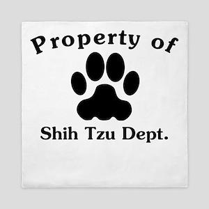 Property Of Shih Tzu Dept Queen Duvet