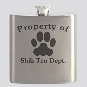 Property Of Shih Tzu Dept Flask