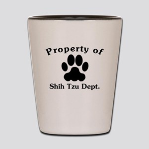 Property Of Shih Tzu Dept Shot Glass