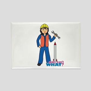 Rocket Scientist Woman Medium Rectangle Magnet