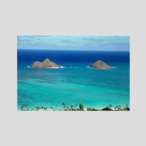 lanikai beach hawaii Rectangle Magnet